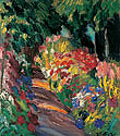 "Painting ""Path lined with flowers"""