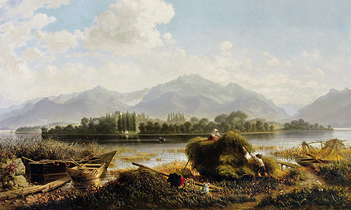 "Painting ""View to Herrenchiemsee"""