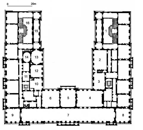 Picture: Plan of Herrenchiemsee Palace (first floor)